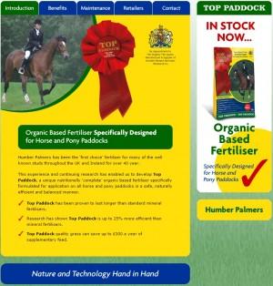 01 Top Paddock Organic Based Fertiliser for Horse and Pony Paddocks