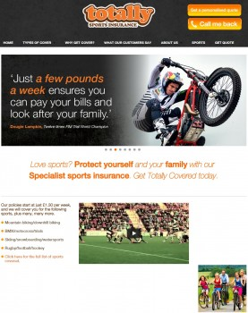 01 Totally Sports Insurance   Sports Accident   Income Protection   Sports Insurance