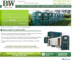 02 B W Portable Toilets for Long and Short Term Hire
