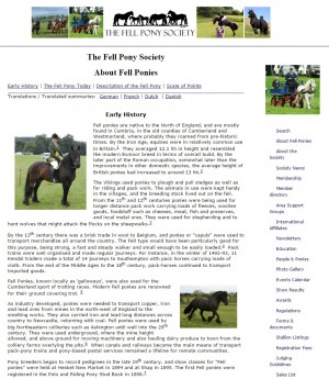 100 The Fell Pony Society   About Fell Ponies