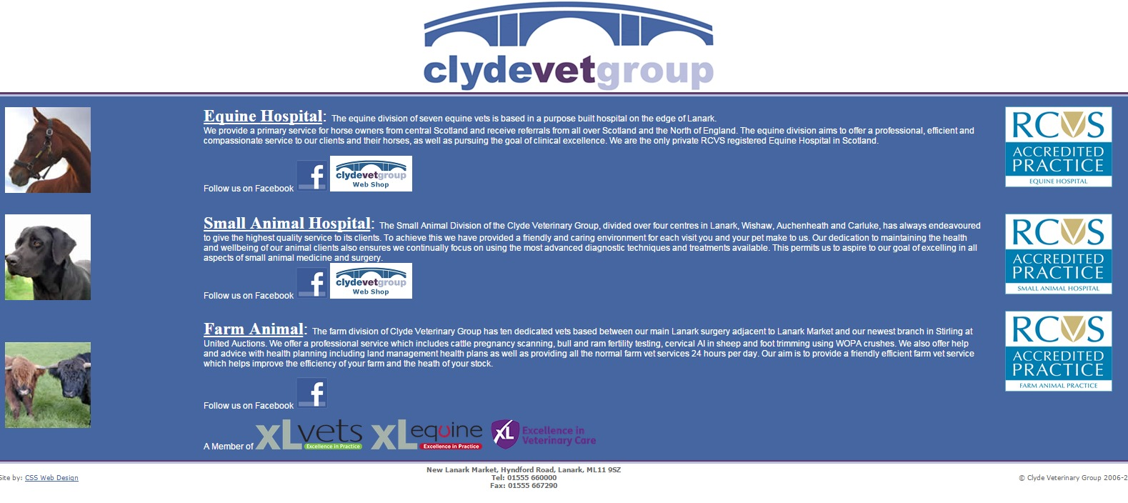 41 Clyde Veterinary Group  Lanark. Equine hospital. Equine vets. Farm and small animal vets Lanarkshire