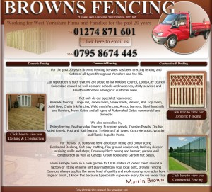 62  Browns Fencing Services Home Page
