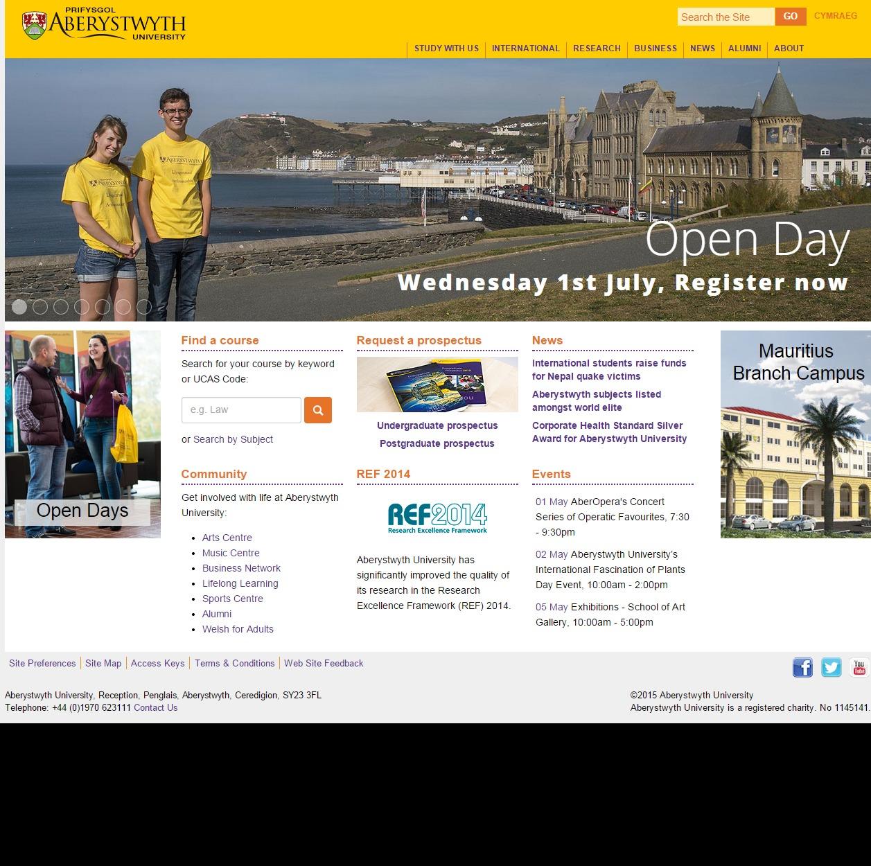 Aberystwyth University   Home