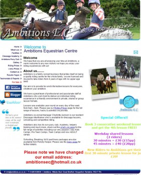 Ambitions Equestrian Centre I Riding Stables I Great Shefford