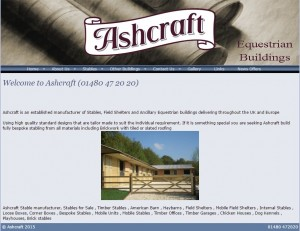 Ashcraft   Suppliers of Quality Equestrian Buildings  Stables  Looseboxes  Mobile Field Shelters  Mobile Stables  Field Shelters  American Barns  Internal Partitions  Brick Built Stables