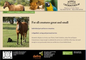 Ashes Pet and Equine Crematorium  North Yorkshire   Home