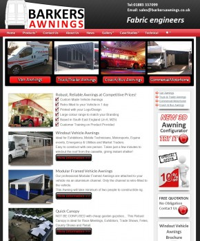 Barkers Awnings    Home
