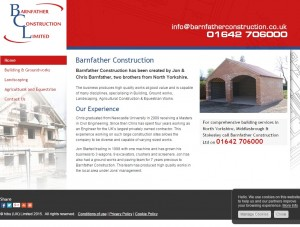 Building services in North Yorkshire and Middlesbrough with Barnfather Construction Ltd