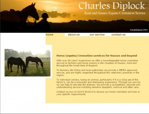 Charles Diplock DEFRA appoved Horse and petCremation Services   Sussex   Kent   UK
