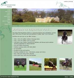 Chyverton Park Equestrian  Zelah  Truro  Cornwall