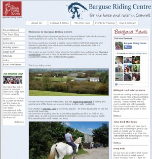 For riding stables in Cornwall  Barguse Riding Centre   Lockengate  Cornwall