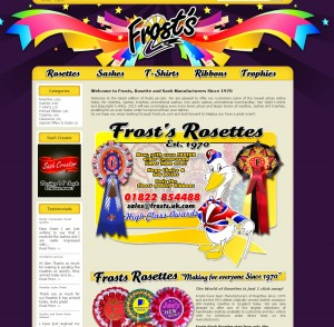 Frosts Rosettes  Rosettes  Sashes  Hen party sashes  Promotional sashes  Printed ribbon   Frosts Rosettes est 1970