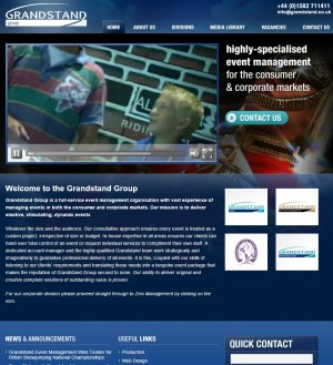 Grandstand   Highly specialised event management for the consumer   corporate markets