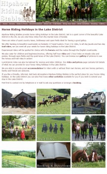 Horse Riding Holidays in the Lake District - Welcome to Hipshow Riding Stables 2015-05-28 21-29-34