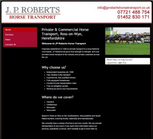 Horse Transportation   Hereford  Cheltenham   JP Roberts Horse Transport