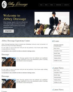 Horse riding Gloucestershire  dressage   livery   horse facilities accommodation   riding events   chapionship   Abbey Dressage News