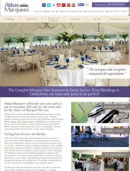 Marquee Hire Somerset  Devon   UK   Abbas Marquees