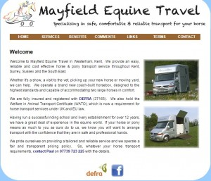 Mayfield Equine Travel   Horse Transport in Kent   Surrey