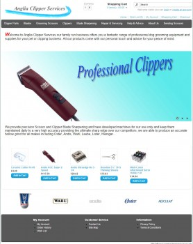 Professional dog grooming equipment