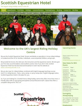 Scottish Equestrian Hotel   Horse Riding Holidays  Lessons and Livery