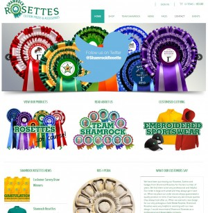 Shamrock RosettesShamrock Rosettes   Custom prizes and event accessories