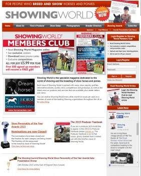 Showing World   Breeding and Showing   Horses   Ponies   Magazine