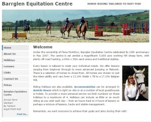 Welcome to Barrglen Equitation Centre