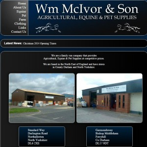 Wm McIvor   Son  Horse Feed  Pet Food  Equestrian Supplies throughout Yorkshire